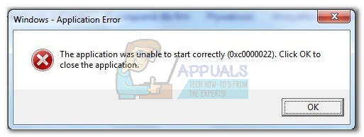 Fix: Application Error 0xc0000022 - Appuals com