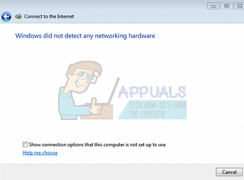 Fix: Windows did not detect any networking hardware