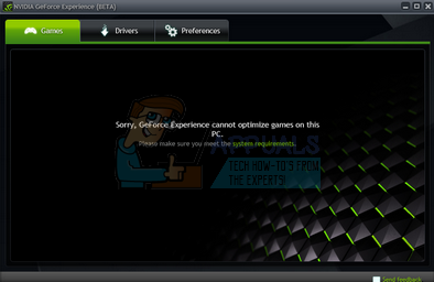 nvidia experience unable to connect