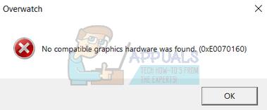 Fix: Overwatch No Compatible Graphics Hardware Was Found