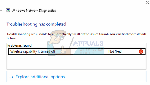 Fix: Wireless capability is turned off - Appuals com