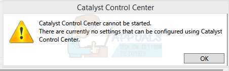 Fix: Catalyst Control Center cannot be started - Appuals com