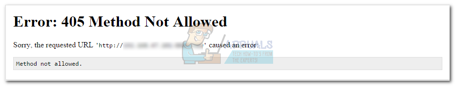 What Is: Error 405 Method Not Allowed - Appuals.com