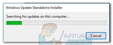 Fix: Windows Update Standalone Installer stuck at Searching