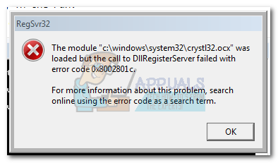 Fix: DllRegisterServer Failed Error 0x8002801c - Appuals com