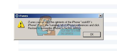 Fix: iTunes Cannot Read Contents of the iPhone - Appuals com