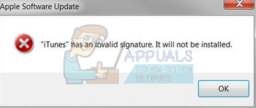 Fix: iTunes has an Invalid Signature - Appuals com