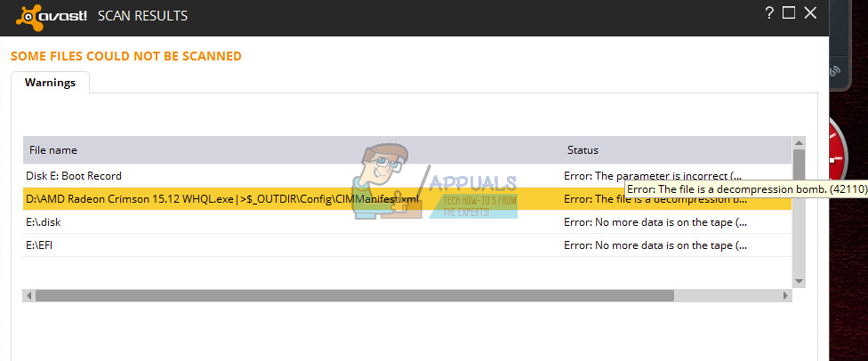 error rpc avast windows xp