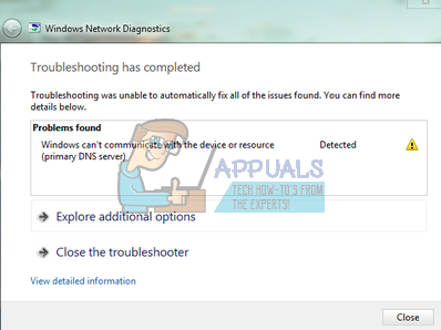 lỗi windows cannot automatically detect this networks settings