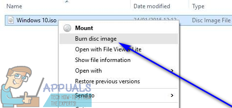 How to Burn a Windows 10 ISO File to a DVD - Appuals com