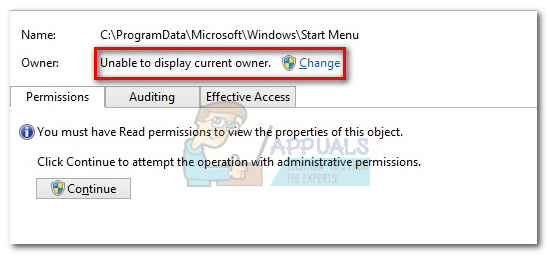 Fix: Unable to display current owner - Appuals com