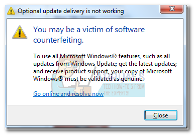 Fix: You may be a victim of software counterfeiting