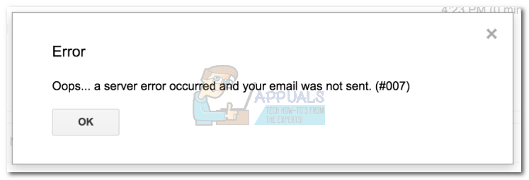 Fix: oops    a server error occurred and your email was not sent
