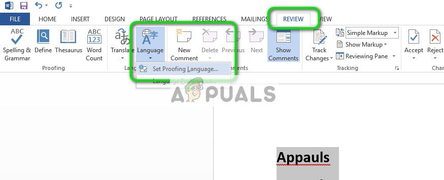 Fix: Spell Check not working in Word - Appuals com