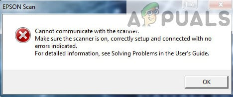 Fix: Epson Scan cannot communicate with the Scanner - Appuals com