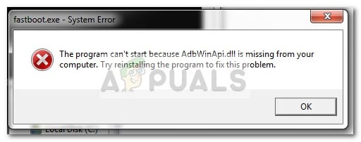 Fix: AdbWinApi.dll is missing - Appuals.com