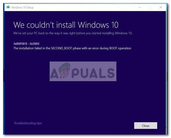 Fix: Windows 10 Update Error 0x800f081e - Appuals com
