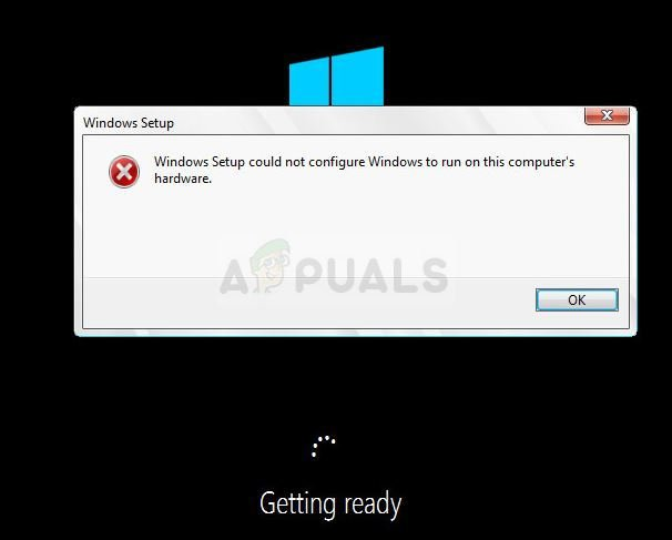 Fix: Windows Setup could not configure Windows to run on this