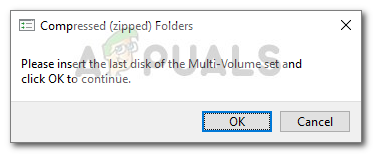 Fix: Please Insert the Last Disk of the Multi-Volume Set