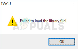 Fix: TWCU.EXE Failed to Load Library File - Appuals.com