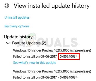 Fix: Windows Update Error 0x80240034 - Appuals com