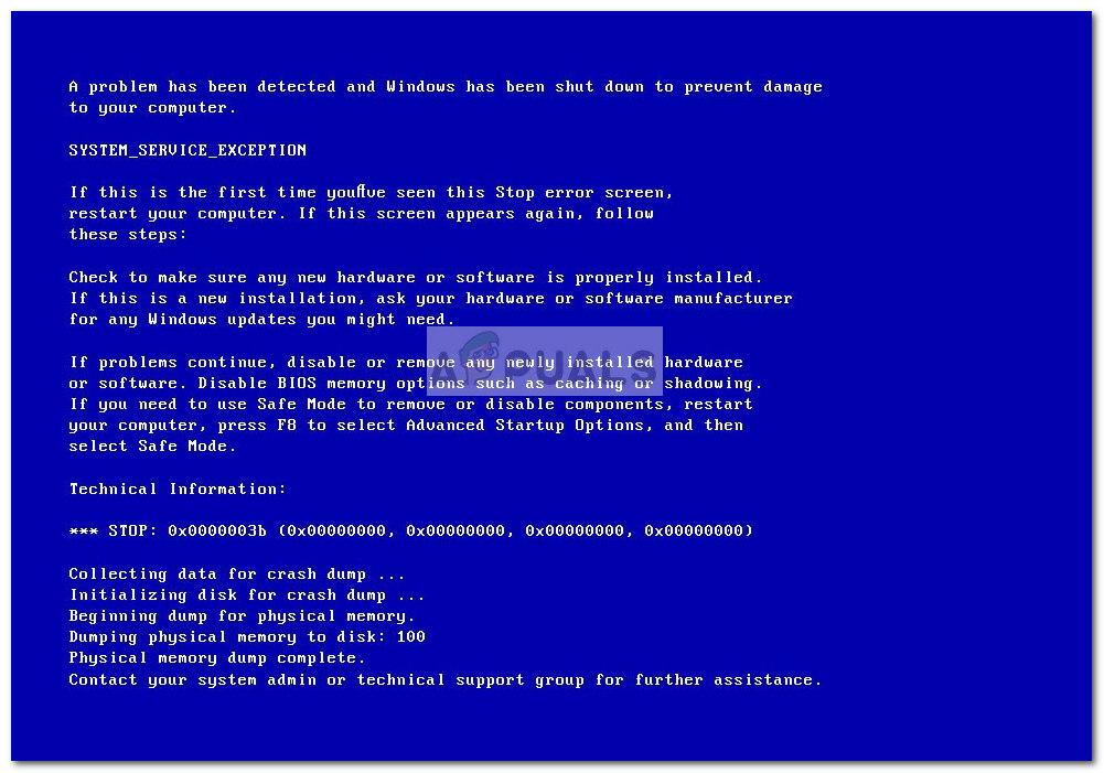 Fix: BSOD with 0x0000003b Stop Error Code - Appuals com