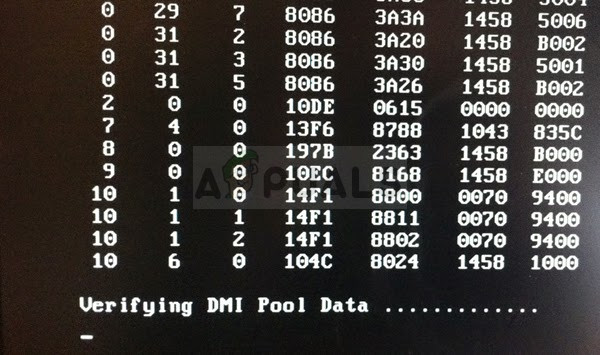 Fix: Verifying DMI Pool Data Error - Appuals com