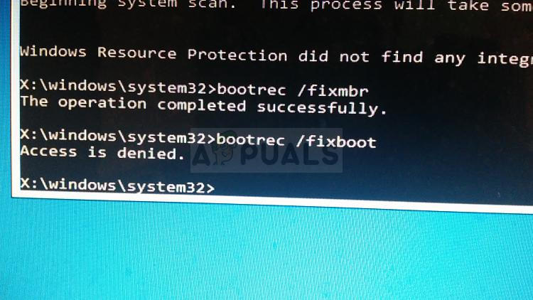 How to Fix 'bootrec /fixboot' Access Denied on Windows 7,8 and 10