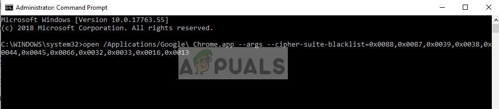 Disabling SSL3 in Google Chrome
