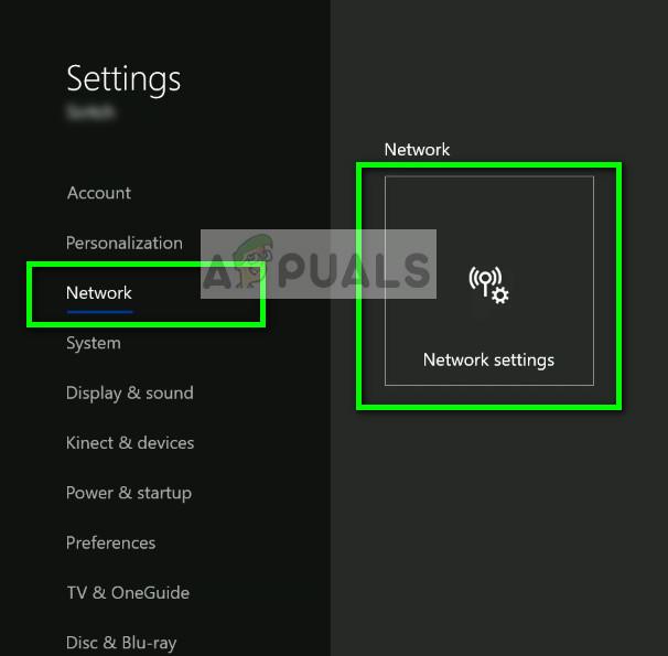 Network Settings - Xbox