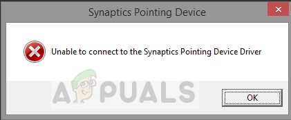 Fix: Unable to Connect to Synaptics Pointing Device Driver