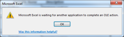 Fix: Microsoft Excel is Waiting for Another Application to