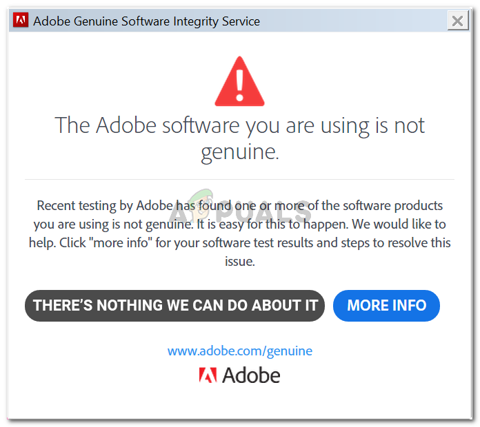 Fix: The Adobe Software You Are Using is Not Genuine - Appuals.com