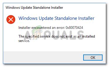 Fix: Windows Update Error 0x80070424 - Appuals com