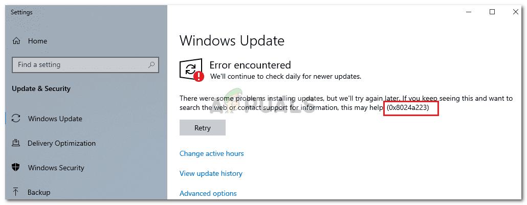 Fix: Windows Update Error 0x8024a223 - Appuals com