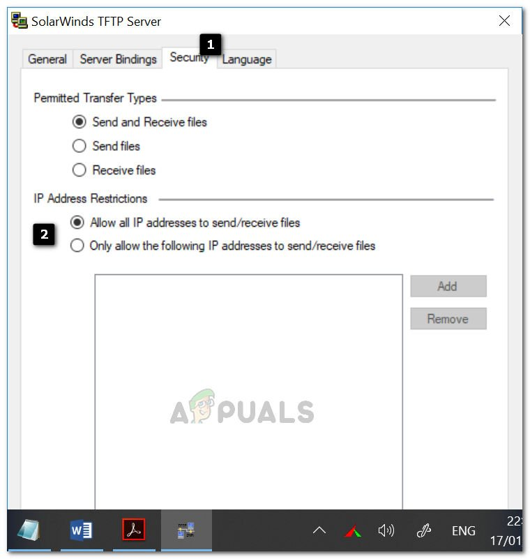 How to Setup and Configure TFTP Server on Windows 10 - Appuals com