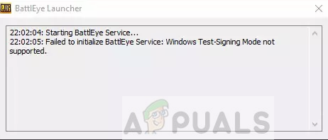 Fix: Failed to Initialize BattlEye Service 'Windows test