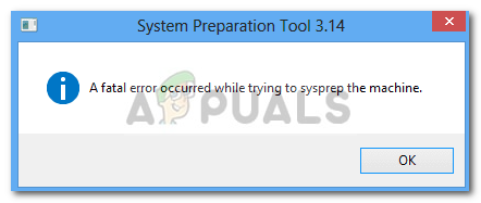 Fix: A Fatal Error Occurred While Trying to Sysprep the Machine