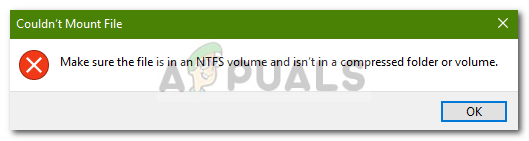 Fix: Make Sure the File is an NTFS Volume and isn't in a