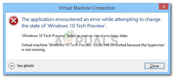 Fix: Hypervisor is not Running Error on Windows 10 - Appuals.com