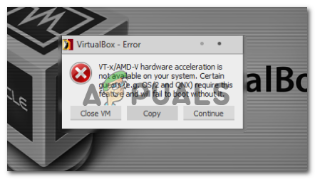 Fix: VT-X/AMD-V Hardware Acceleration is Not Available on
