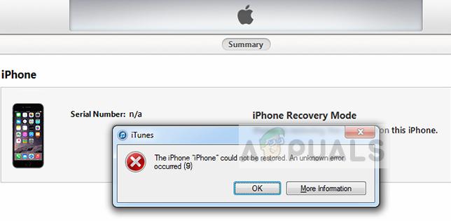 Fix: iTunes Unknown Restore Error 9 - Appuals com