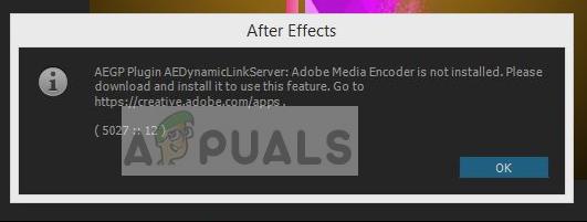 Fix: Adobe Media Encoder is not Installed - Appuals com