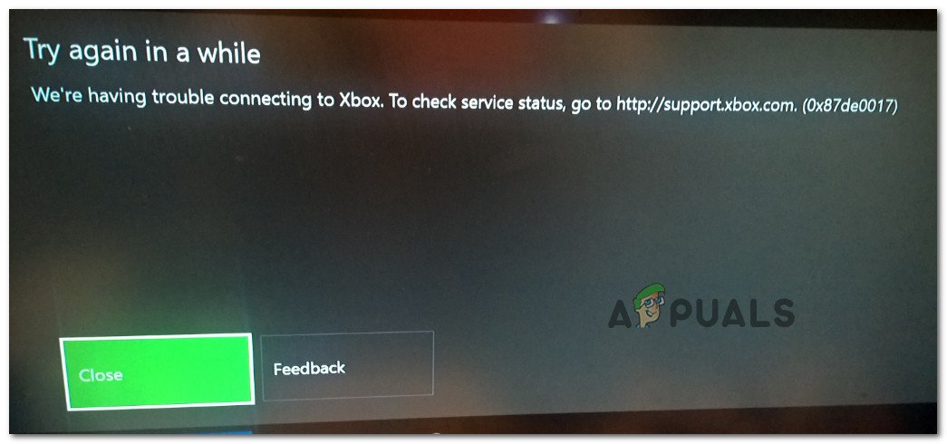 Fix: Xbox One Error Code 0x87de0017 - Appuals com