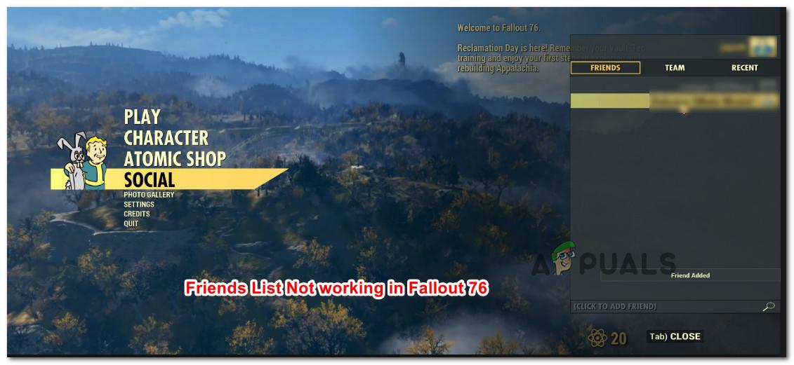 Fix: Fallout 76 Friends List Not Working Glitch - Appuals com