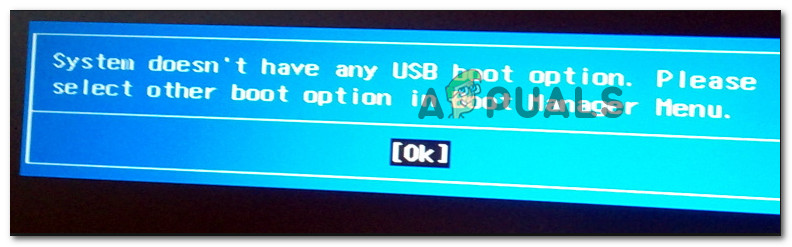 Fix: System Doesn't Have Any USB Boot Option - Appuals com