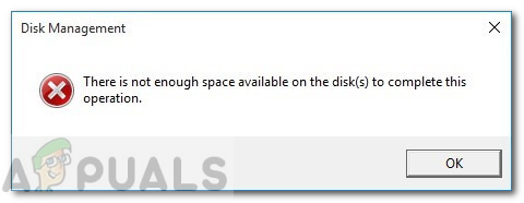 Fix: There is not Enough Space on the Disk to Complete this