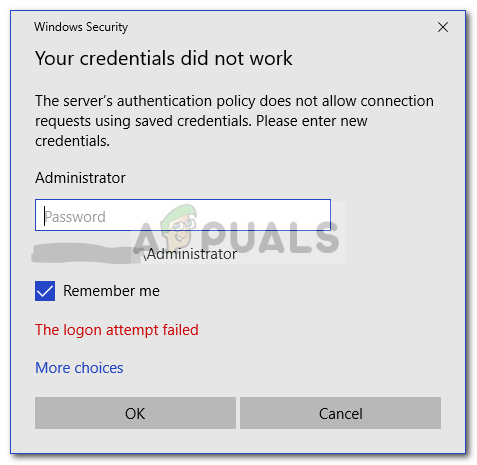 Fix: Your Credentials Did not Work in Remote Desktop