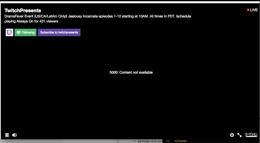 Fix: Twitch Error 5000 Content not Available - Appuals.com