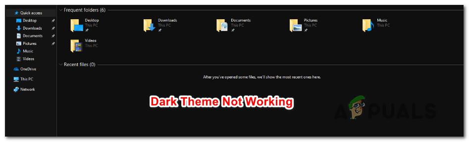 Fix: File Explorer Dark Theme Not Working on Windows 10